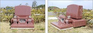 額付アーチ型墓碑